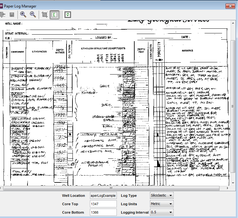 Example of the LogManager Hand Drafted Log Manager